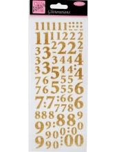 """Наклейки контурные с блестками """"Цифры"""", мерцающее золото, Anita`s"""