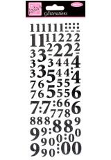 """Наклейки контурные с блестками """"Цифры"""", цвет черный с глиттером, Anita`s"""