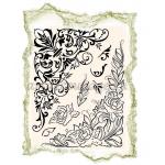 """Штампы силиконовые Viva-Silikon-Stempel D04  """"Уголки, цветочный орнамент"""",14х18 см, Германия"""