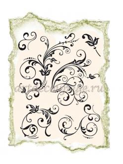Штампы силиконовые Viva Silikon Stempel D07 Цветочные орнамент,14х18 см, Германия