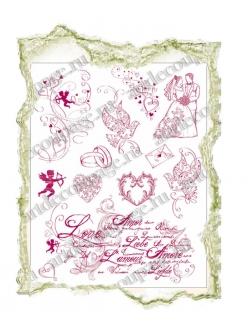 Штампы силиконовые Viva Silikon Stempel D20 Любовь, свадьба,14х18 см