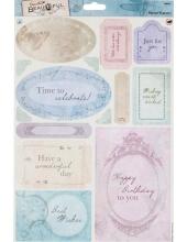 """Набор высечных карточек """"Пожелания"""" коллекция Beautiful, Papermania"""