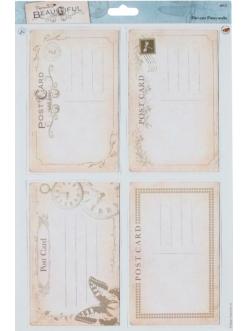 """Набор высечных карточек """"Письма"""" коллекция Beautiful, Papermania"""
