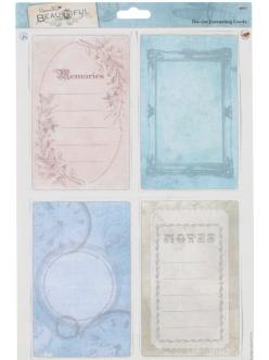 """Набор высечных карточек """"Заметки"""" коллекция Beautiful, Papermania"""