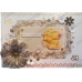 Набор высечки фигурной с глиттером Lincoln Linen, бежевый, 18 шт, 10-15 см, Papermania