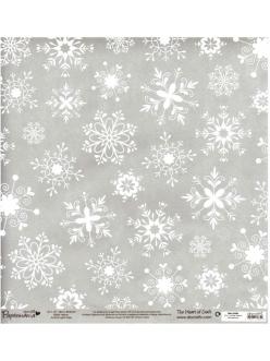 Бумага пергаментная, веллум с объемным рисунком Снежинки, Papermania,  30,5х30,5 см