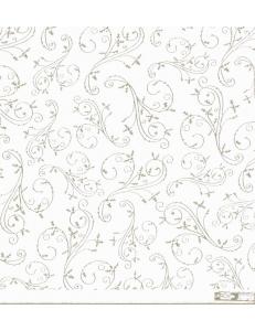 Бумага пергаментная, веллум с объемным орнаментом Holly Flourish, Papermania,  30,5х30,5 см