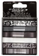 """Набор лент текстильных """"Liquorice Sherbert"""", 6 штук по 1 м, DoCrafts"""