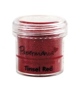Пудра для эмбоссинга, цвет красные блестки, 28,3 г, Papermania (Великобритания)