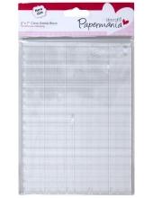Блок для штампов акриловый прозрачный с разметкой, Papermania, 12,7х17,7 см