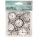 Штамп резиновый на пластиковой основе Время, часы, Papermania, 94х98 мм