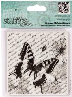 Штамп резиновый на пластиковой основе Энтомология, бабочки, 94х98 мм
