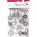 Набор новогодних силиконовых штампов Ёлочные игрушки, 13х18 см, Papermania