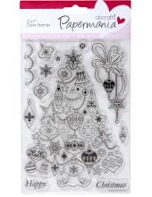 """Набор новогодних силиконовых штампов """"Новогодняя ёлка"""", Papermania"""