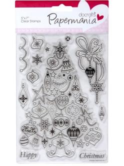 Набор новогодних силиконовых штампов Новогодняя ёлка, Papermania