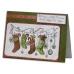 Набор новогодних силиконовых штампов Рождественские носки, Papermania