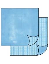 "Бумага для скрапбукинга двусторонняя ""Голубая клетка"", Stamperia, 31,2х30,3 см"