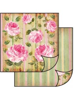 Бумага для скрапбукинга двусторонняя Розы Stamperia, 31,2х30,3 см