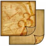 """Бумага для скрапбукинга двусторонняя SBB097 """"Часы"""", Stamperia, 31,2х30,3 см"""
