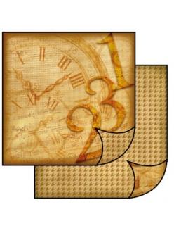 """Бумага для скрапбукинга двусторонняя """"Часы"""", Stamperia, 31,2х30,3 см"""