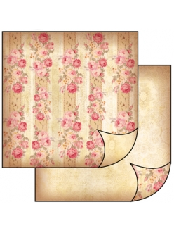 Бумага для скрапбукинга Полоски из роз, Stamperia, 31,2х30,3 см