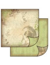 """Бумага для скрапбукинга двусторонняя """"Статуя свободы"""", Stamperia, 31,2х30,3 см"""