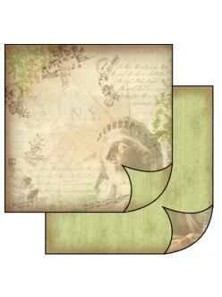 Бумага для скрапбукинга Статуя свободы Stamperia, 31,2х30,3 см