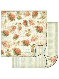 Бумага для скрапбукинга Ангелы и розы Stamperia, 31,2х30,3 см