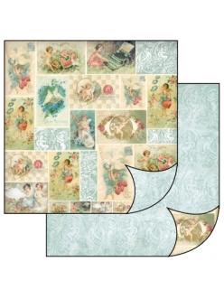 Бумага для скрапбукинга Ангелы Stamperia, 31,2х30,3 см
