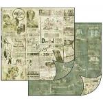 """Бумага для скрапбукинга двусторонняя """"Старая газета"""" Stamperia, 31,2х30,3 см"""