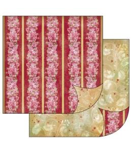 "Бумага для скрапбукинга двусторонняя ""Бордюры с розами, орнамент"", Stamperia, 31,2х30,3 см"