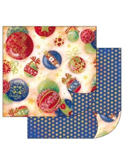 Бумага для скрапбукинга Бирюзовыый орнамент Stamperia, 31,2х30,3 см
