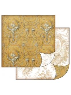 Бумага для скрапбукинга Гобелен на золотом Stamperia, 31,2х30,3 см