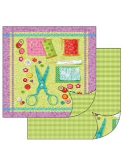 Бумага для скрапбукинга Шитье, 31,2х30,3 см, Stamperia