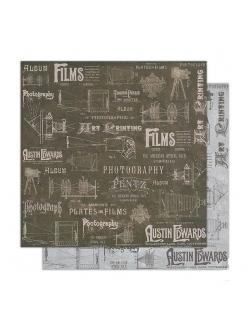 Бумага для скрапбукинга Фильмы Stamperia, 31,2х30,3 см
