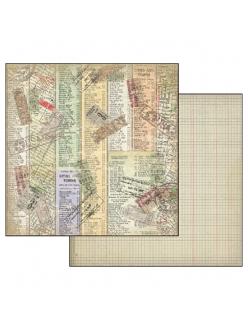 Бумага для скрапбукинга Билеты Нью-Йорк Stamperia, 31,2х30,3 см