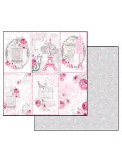 Бумага для скрапбукинга La Vie en Rose Stamperia, 31,2х30,3 см