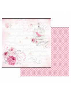 Бумага для скрапбукинга Фильмы La Vie en Rose, музыка, 31,2х30,3 см