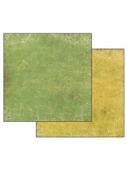 Бумага для скрапбукинга Текстура Зеленый и Желтый Stamperia, 31,2х30,3 см