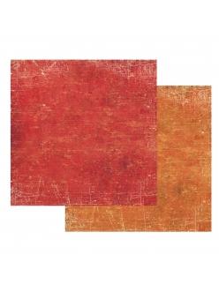 Бумага для скрапбукинга Текстура - Красный и Оранжевый Stamperia, 31,2х30,3 см