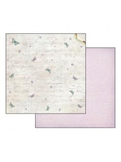 Бумага для скрапбукинга Музыка и бабочки Stamperia, 31,2х30,3 см