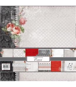 """Набор односторонней бумаги для скрапбукинга """"Элегия"""", 30,5х30,5 см, ScrapBerry's"""