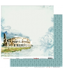 """Бумага для скрапбукинга двусторонняя """"Итальянские каникулы Колизей"""", 30,5х30,5 см, ScrapBerry's"""