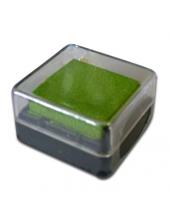 Штемпельная подушка пигментная Stamperia WKP08P, лайм, 3х3 см