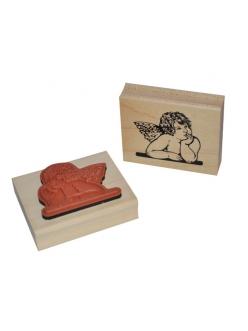 """Штамп резиновый на деревянной основе WTB012 """"Ангел"""", Stamperia, 7,5 х6,3 см"""