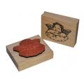 """Штамп резиновый на деревянной основе WTB013 """"Ангел Рафаэля"""", Stamperia, 7,5 х6,3 см"""