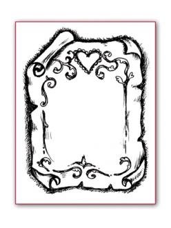 Штамп силиконовый Пергамент, 5х7 см, Stamperia WTK019