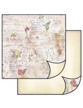 """Бумага для скрапбукинга двусторонняя """"Винтажные открытки и розы"""", Stamperia, 31,2х30,3 см"""