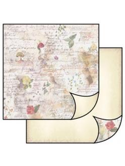 Бумага для скрапбукинга Винтажные открытки и розы, Stamperia, 31,2х30,3 см