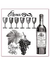 """Штампы силиконовые WTK044 """"Вино и виноград"""", 3 шт., Stamperia, 10х10 см"""